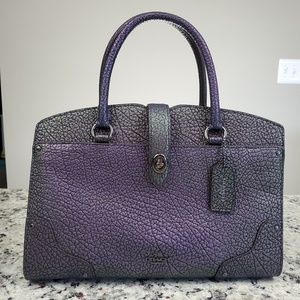 Coach Hologram Mercer 30 Satchel, EUC!